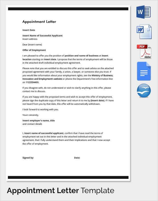 Letter Of Intent Employment from i.pinimg.com