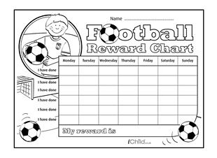Explore Our Football Reward Chart Activity For Children At IChild. We Have  A Wide Range Of Free Printable Reward Charts And Star Charts For Kids.  Free Printable Reward Charts For Teachers
