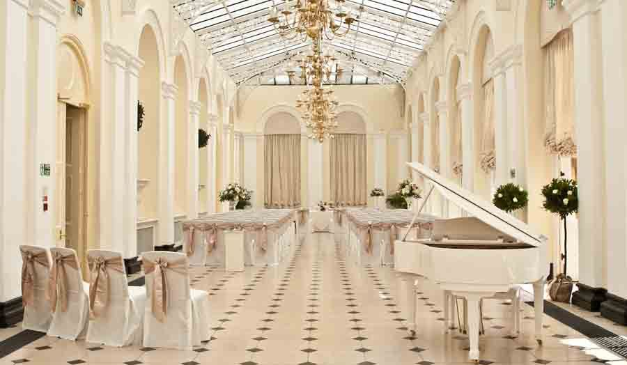 One Of The Many State Rooms At Blenheim Palace Beautifully Arranged For A Civil Wedding Ceremony