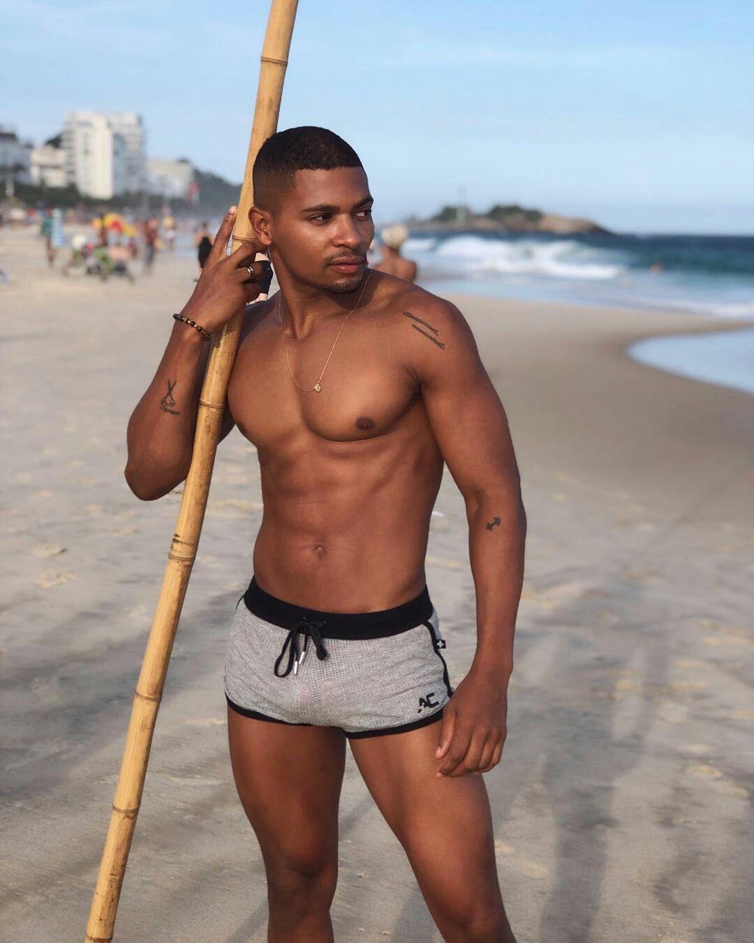 Black On Nude Beach Men
