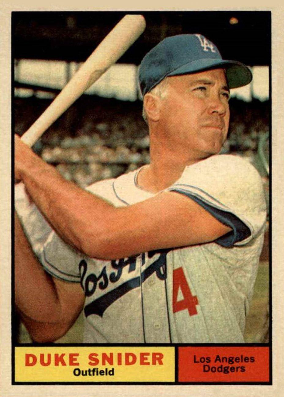 1961 topps duke snider old baseball cards baseball