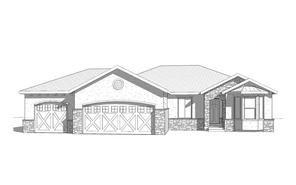 The Springs - Traditional style house plan - Walker Home Design ...