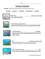 natural disasters worksheet fill in the blanks alphabet natural disasters for kids. Black Bedroom Furniture Sets. Home Design Ideas