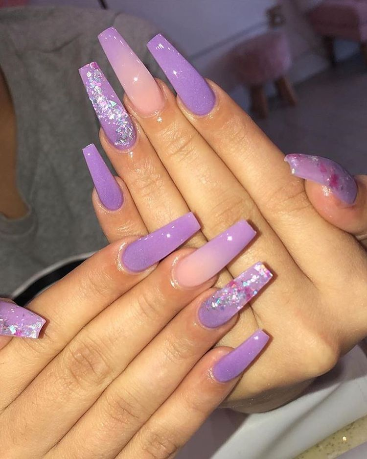 Follow Me Yamtrill For More Cute Nails Purple Acrylic Nails