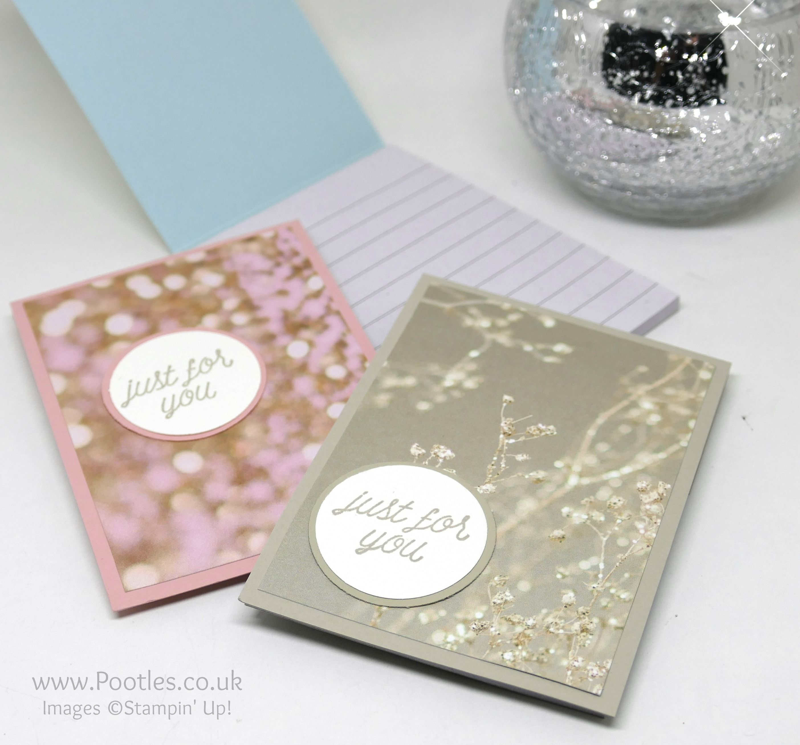 falling in love stampin up customer thank you notebooks