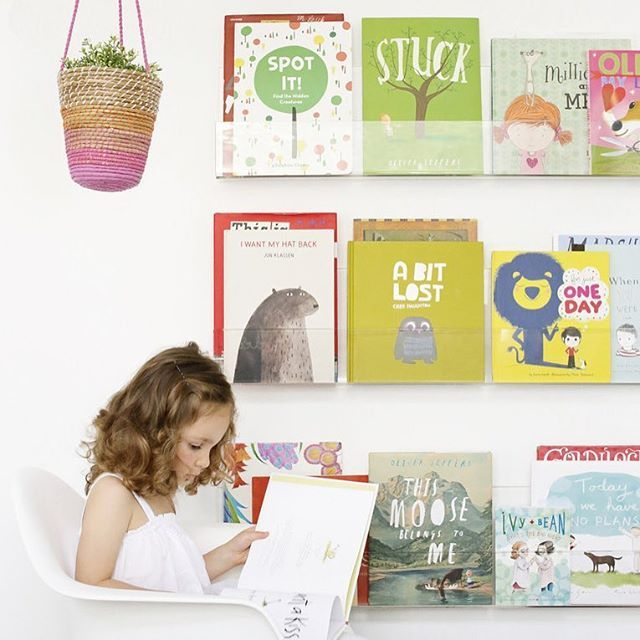NEW to the Project Nursery Shop: Store your children's books neatly away while displaying their beautiful covers in a decorative way with this modern bookshelf set!