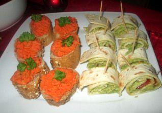 Idee Aperitif Vegan Toasts Houmous Poivron Rouge Roules De Guacamole
