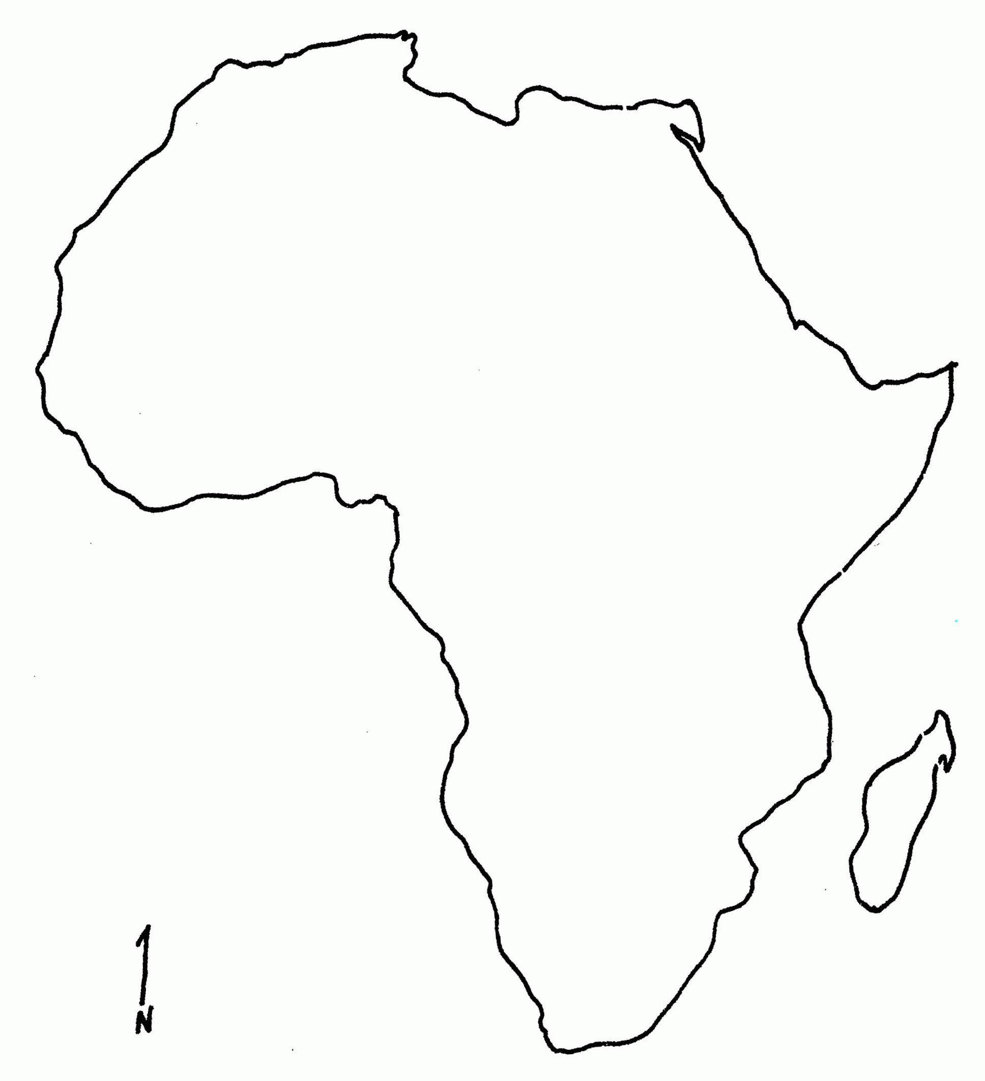 photograph regarding Blank Map of Africa Printable referred to as Blank Map Of Western Africa Jackenjuul