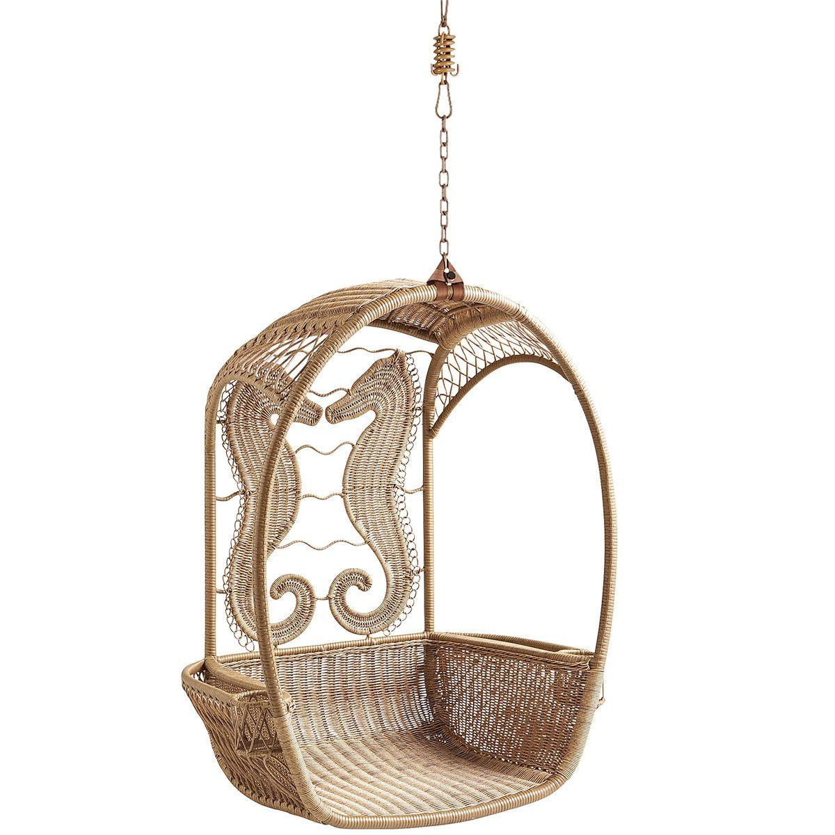 Swingasan® Light Brown Seahorse Hanging Chair | Pier 1 Imports