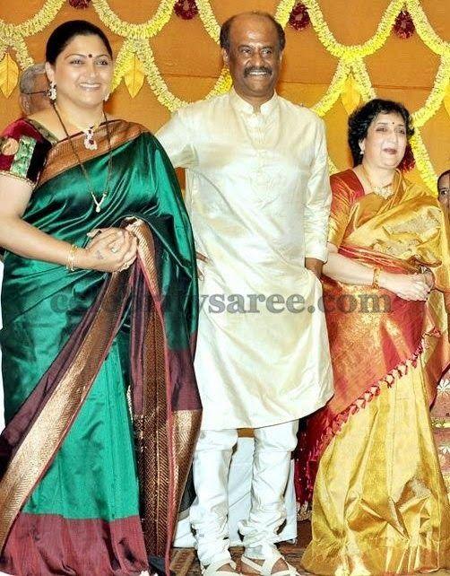 Kushboo In Dharmavaram Saree Saree South Indian Actress Hot Beautiful Indian Actress