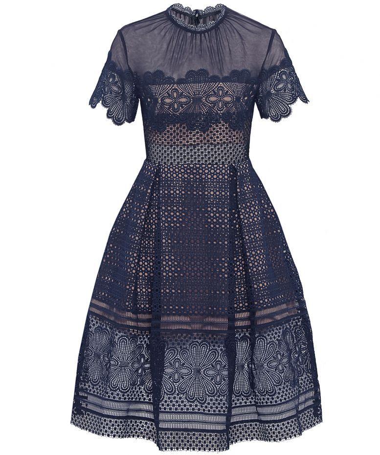 Katie Piper showcases her effortless spring style in sheer navy dress