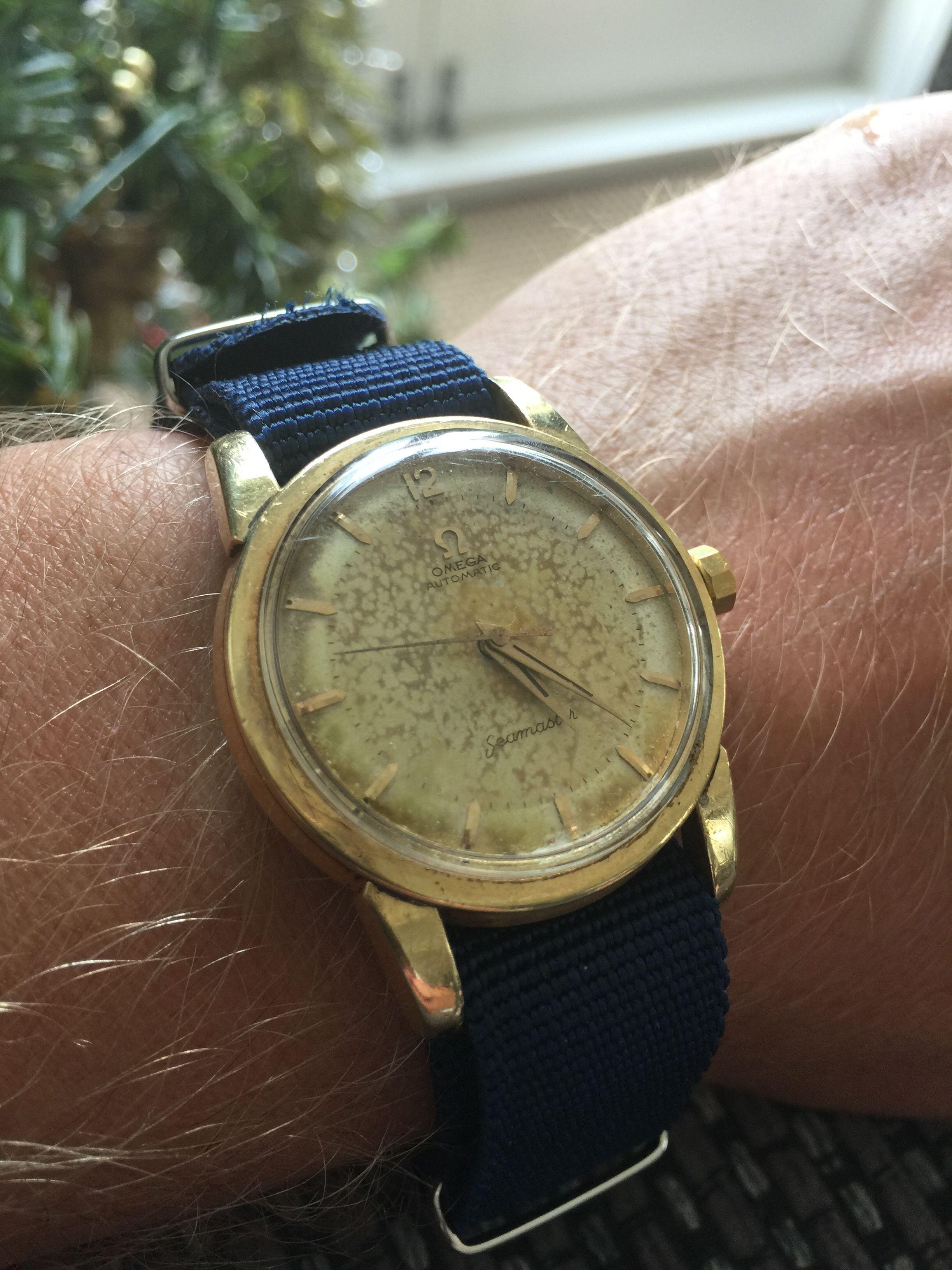 Omega vintage watch wrist