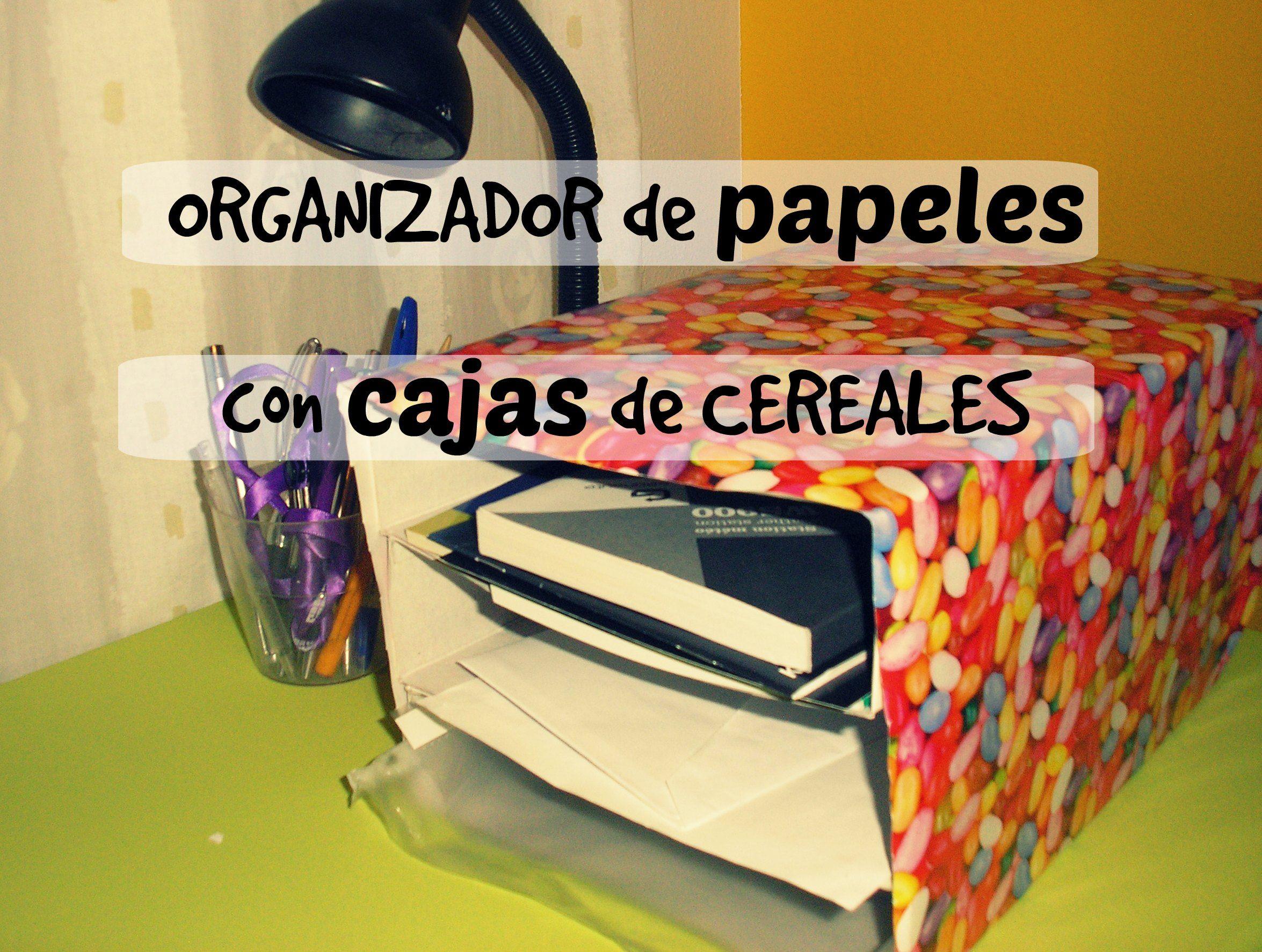Organizador de papeles con cajas de cereales ahorradoras - Organizadores hogar ...