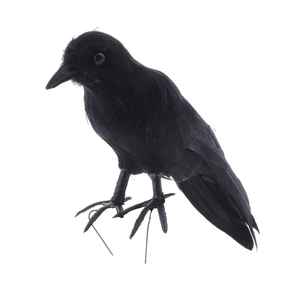 Halloween Decoration Suggestions Fityle Crow Raven Props Artificial Crow Raven Black Bird Halloween D Garden Statues Halloween Displays Halloween Decorations