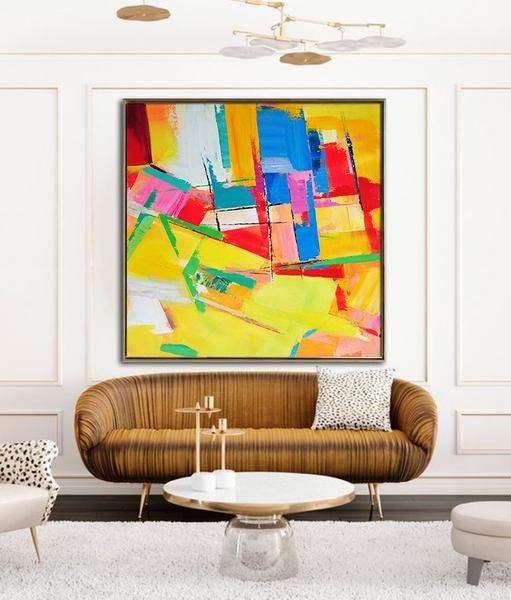 Palette Knife Contemporary Art #L44A | Palette knife painting ...