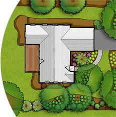 Floridayardsorg Plan view illustration of a landscape