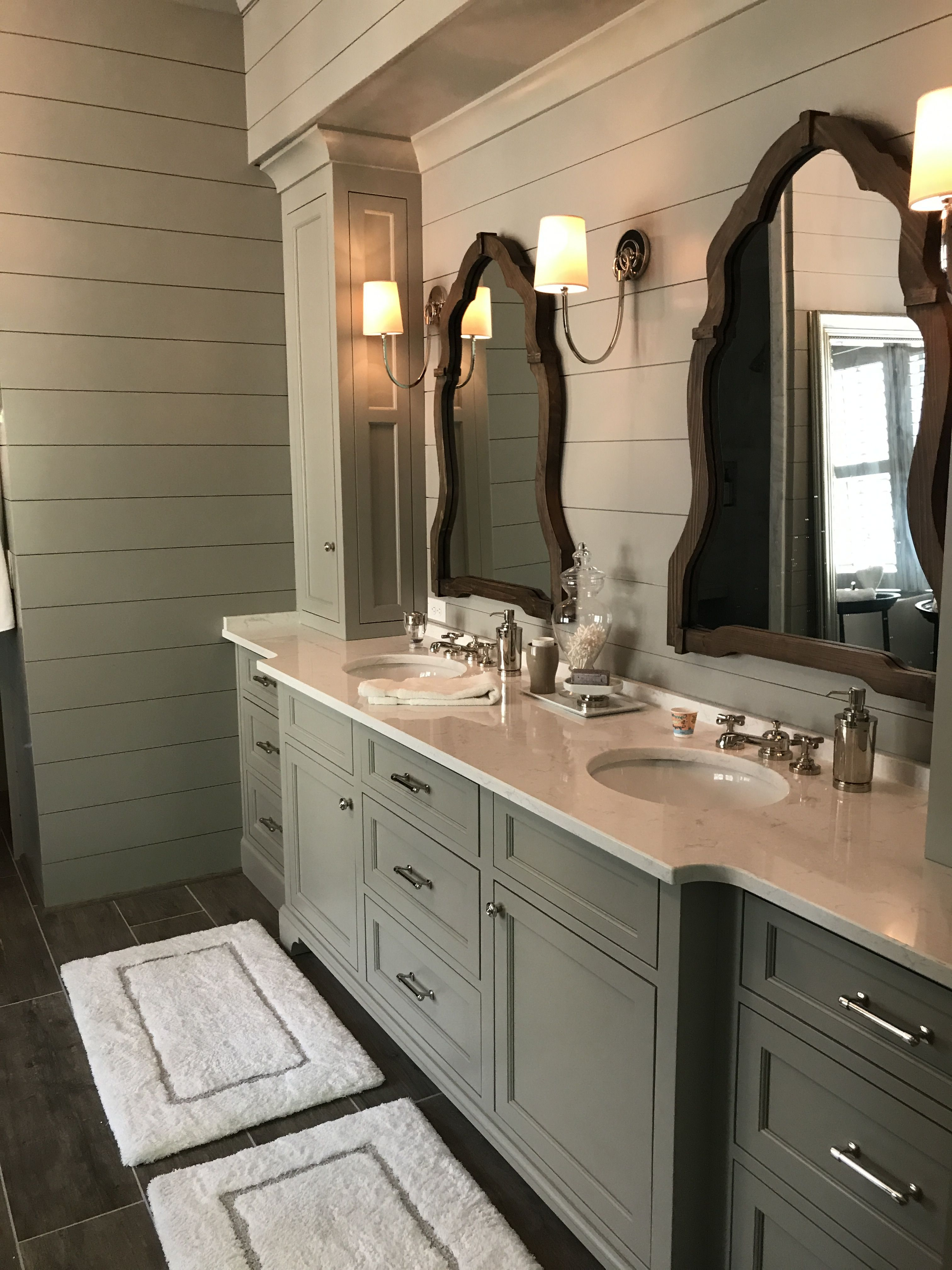 Painted shiplap master bath marietta farmhouse pinterest bath