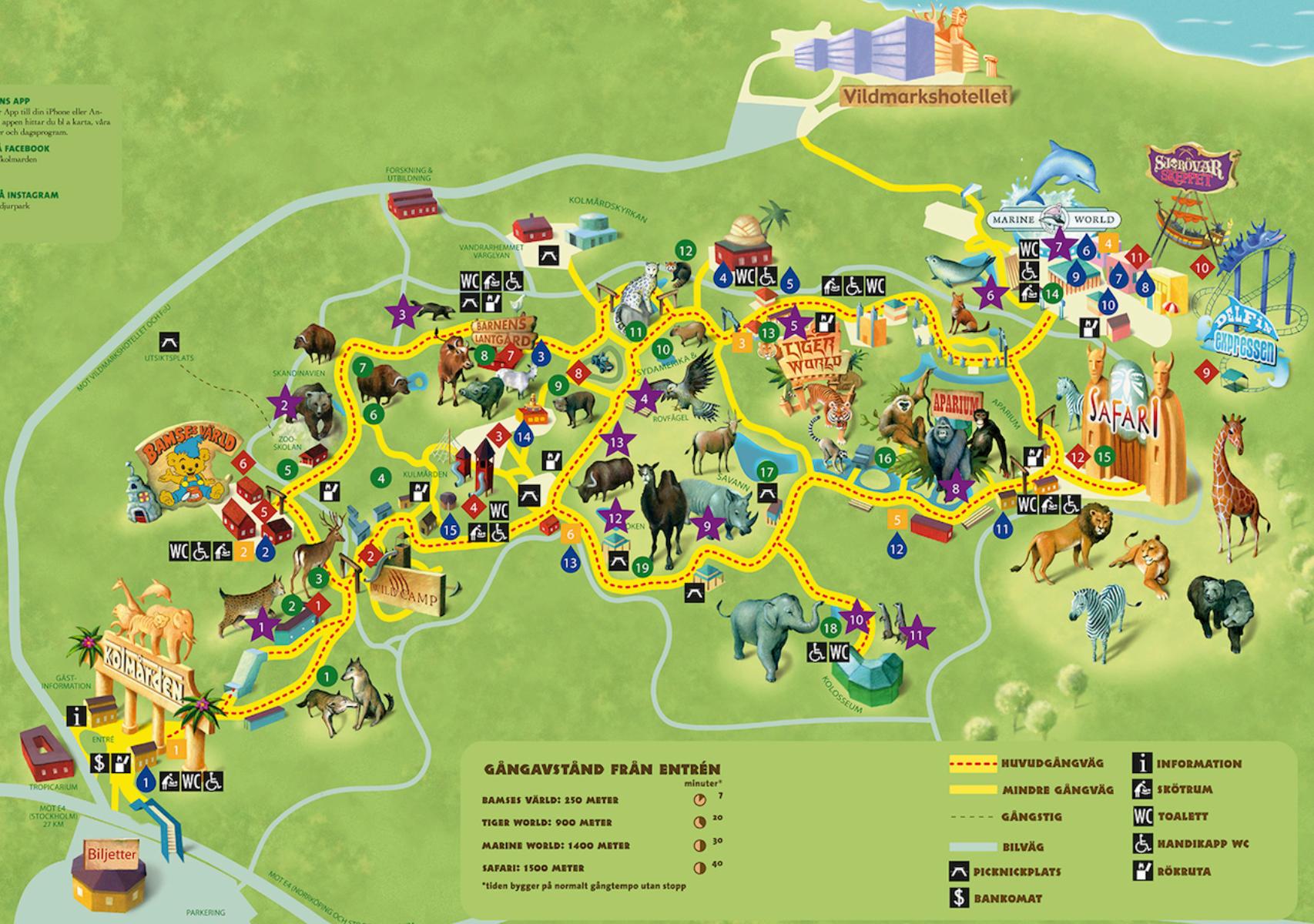 kolmården karta Karta Kolmården | Maps | Pinterest | Zoos kolmården karta