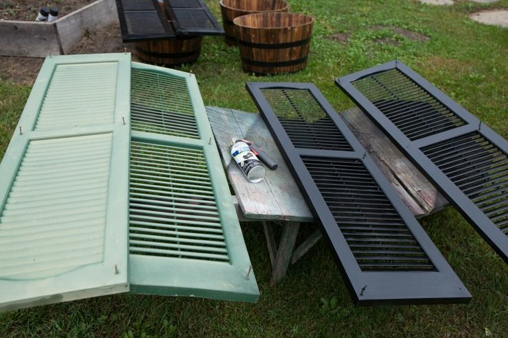Spray Painted Shutters | Painting shutters, Painting wood ...