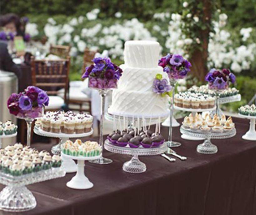 Purple Wedding Dessert Table: Wedding Desserts, Cake Table