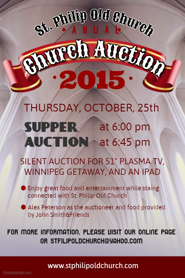 silent auction poster template