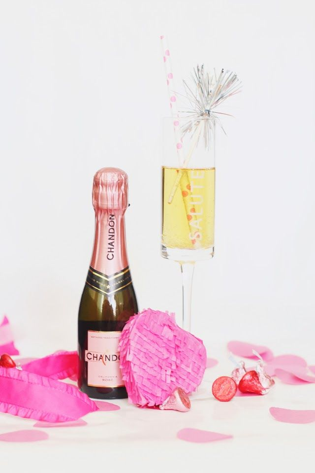 oh hello, love!: Champagne and mini heart piñata