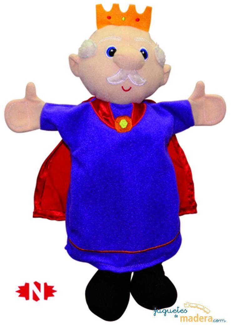 Marioneta de mano rey fieltro pinterest marionetas - Como hacer marionetas de mano ...