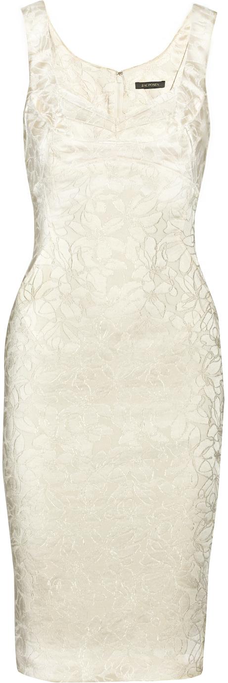 Zac Posen ● Embroidered Satin Dress
