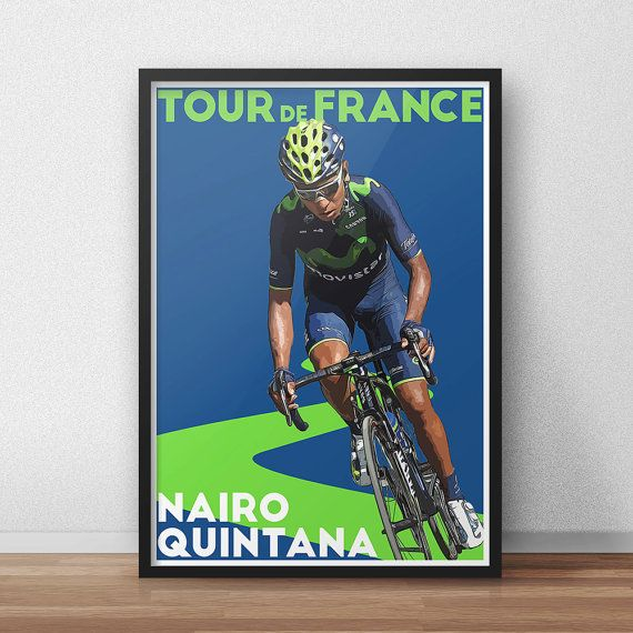 Tour De France Poster  Nairo Quintana  Cycling by TroutLifeStudio