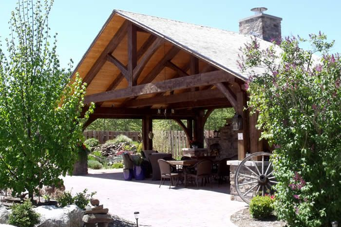 outdoor kitchen designs with roofs timber frame outdoor kitchen gazebo