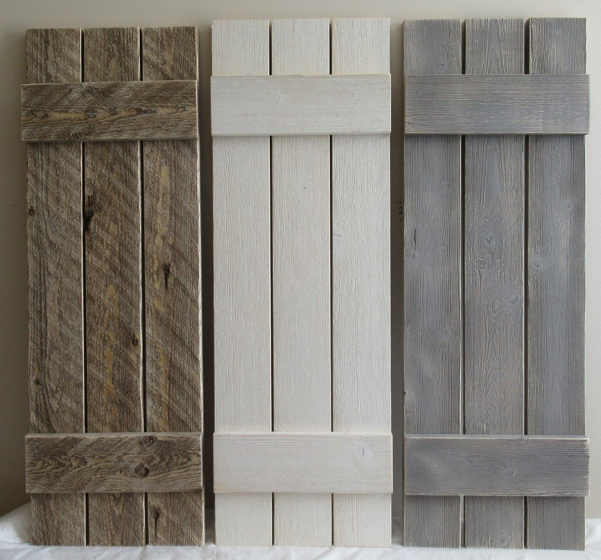 A Pair Of Rustic Interior Shutters Decorative Wall