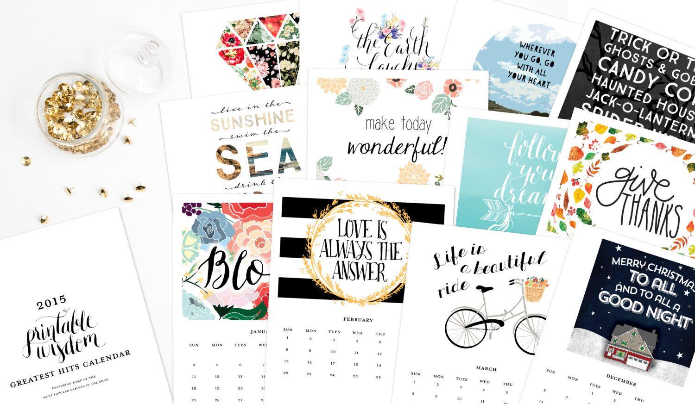 Calendar Design Quote : Printable calendar inspirational quotes printable wisdom