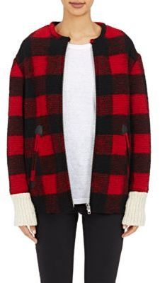 Isabel Marant Étoile Women's Buffalo-Checked Fimo Jacket-RED