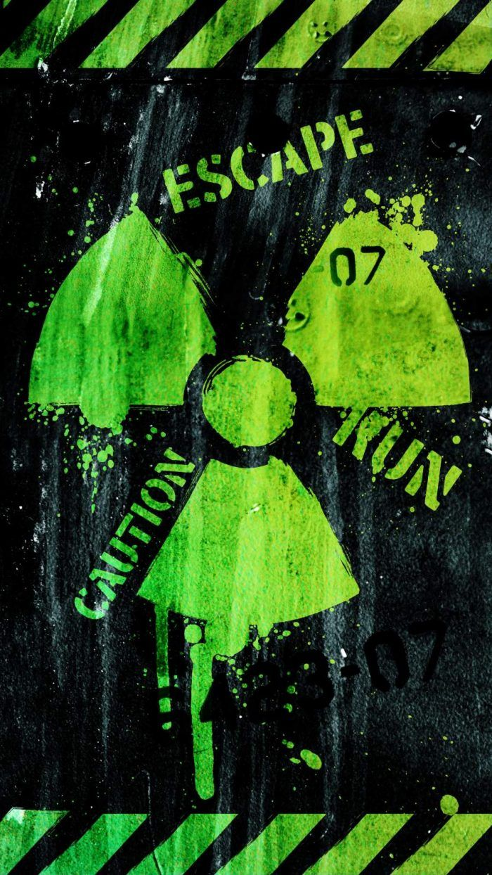 Caution Radioactive iPhone Wallpaper - iPhone Wallpapers