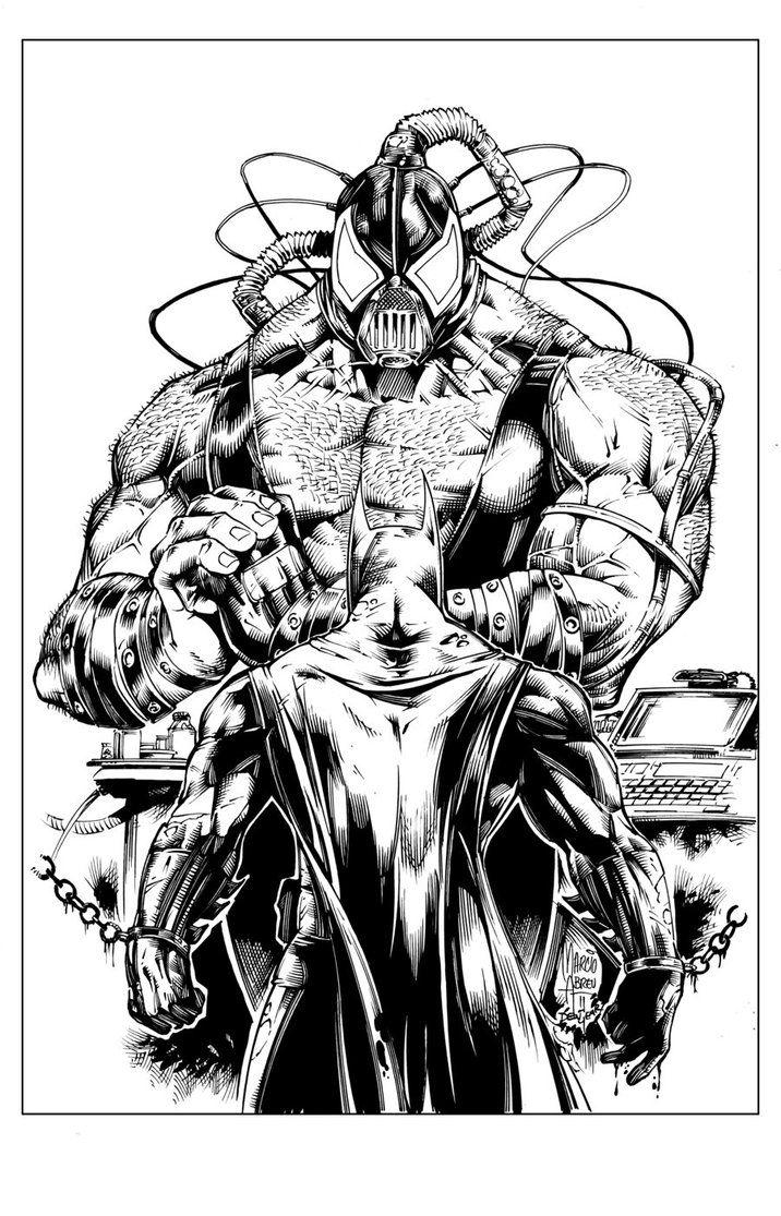 Batman vs Bane by devgear