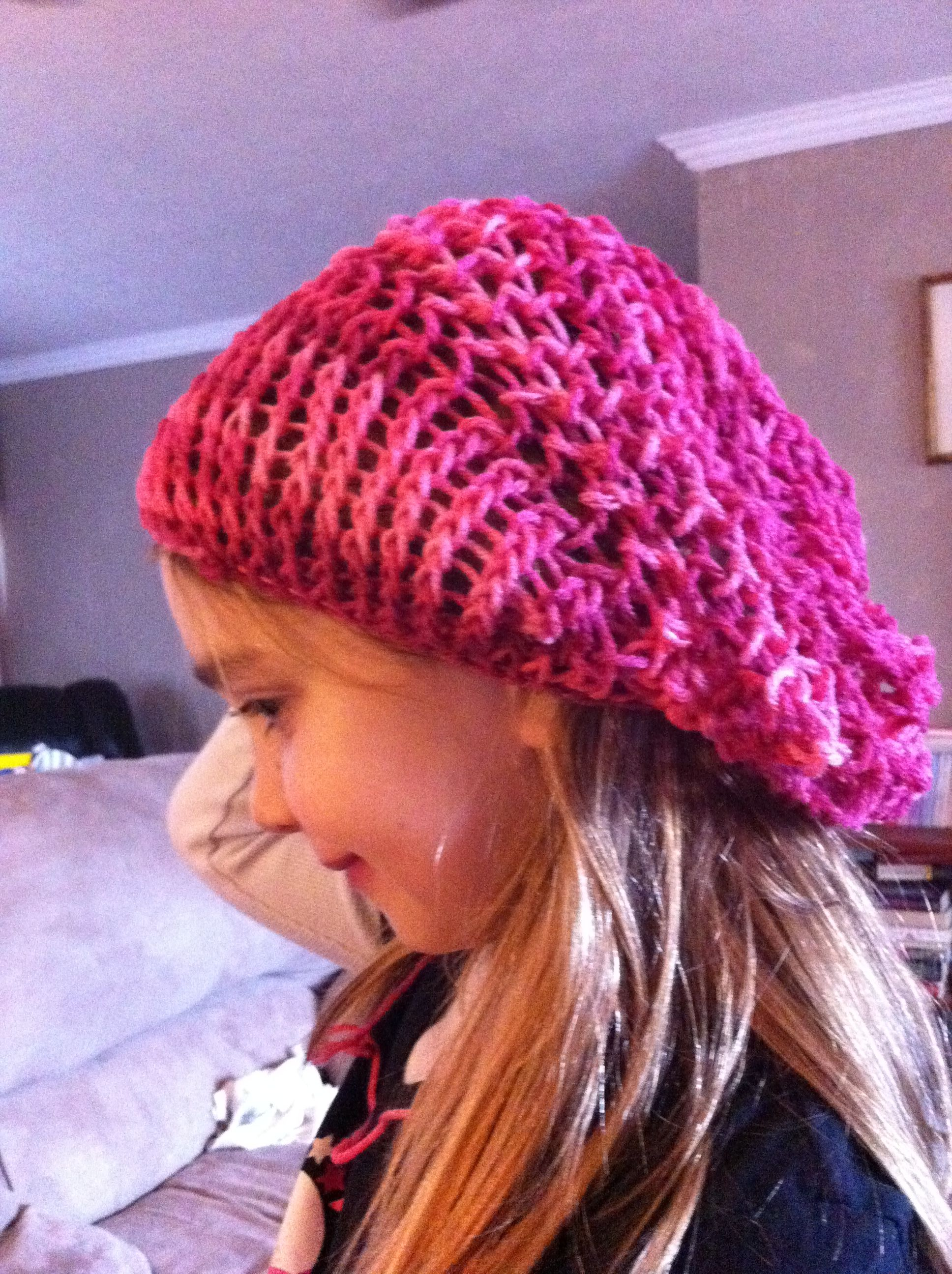Loom knit Slouchy hat  d4f6230718