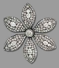 Diamond brooch owned by British prime minister Margaret Thatcher