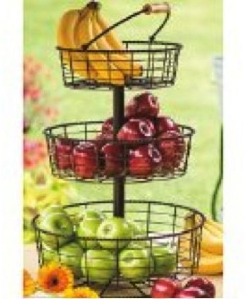 Useful UH FB206 3 Tier Decorative Wire Fruit Basket Countertop Stand #Useful