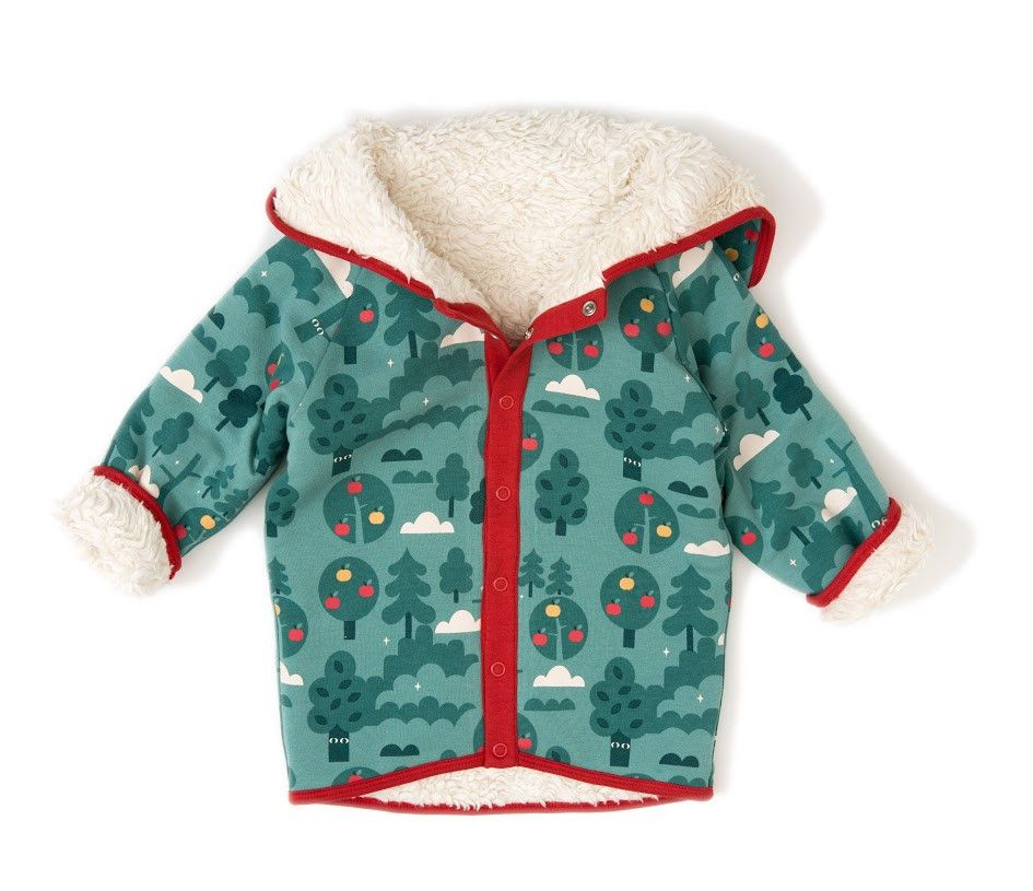 ffb47bcc0d88 This unisex fleece fall jacket has an adorable turquoise and green ...