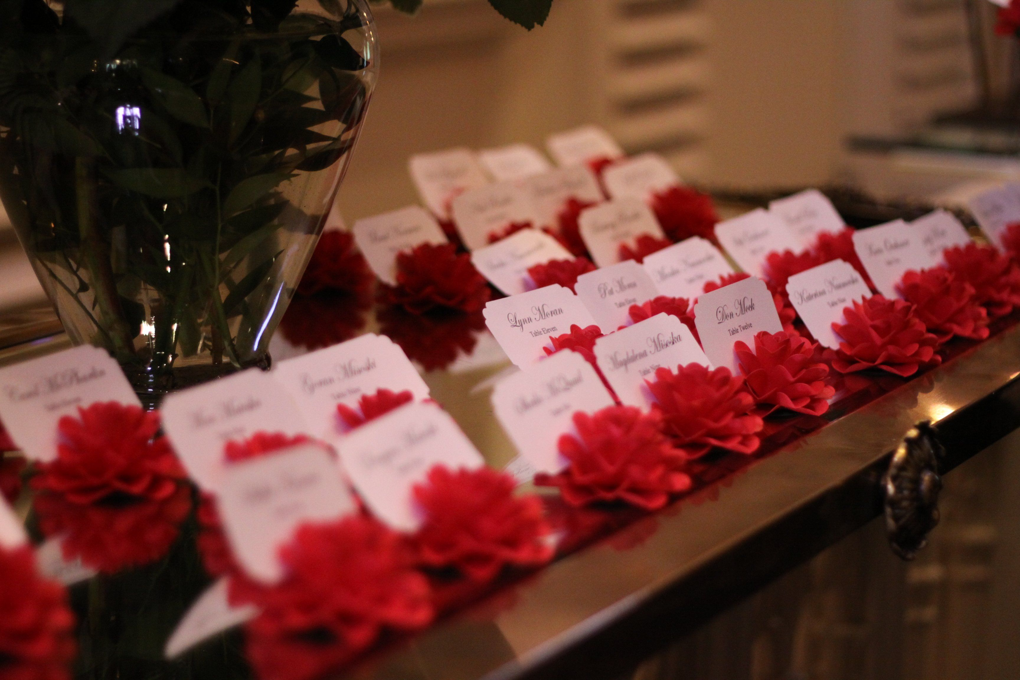 Paper Flower Escort Cards In 2018 Ancillary Wedding Things