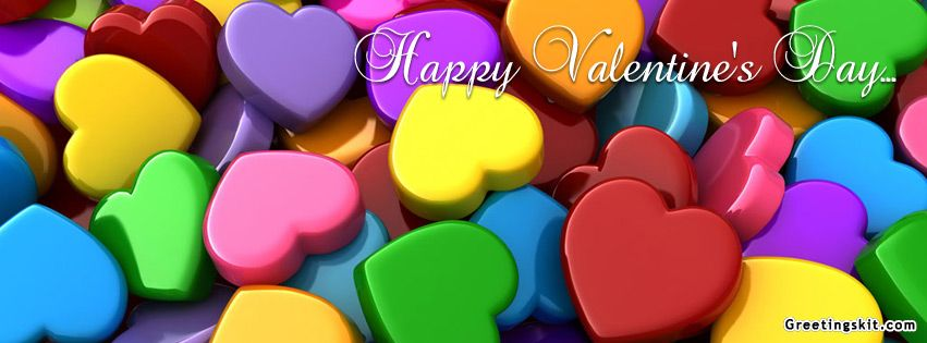 Valentine S Day Facebook Covers 0000 Happy Valentine S Day Facebook Timeline Covers Colorful Heart Rainbow Happy Colors