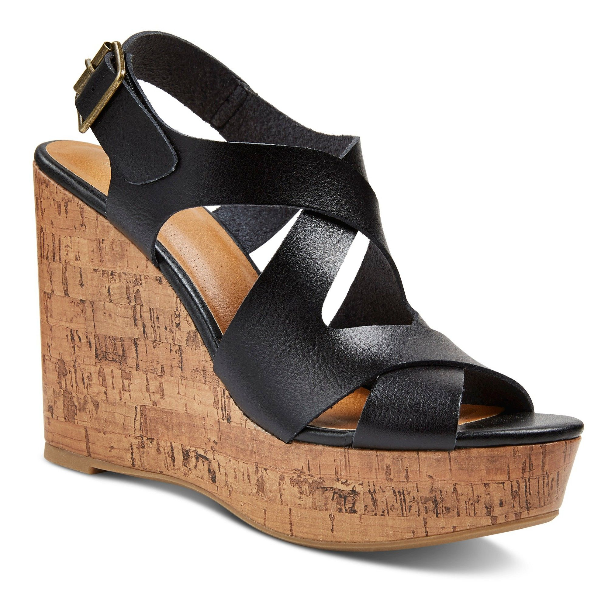 Women's Wide Width Megan Ankle Strap Sandals Mossimo
