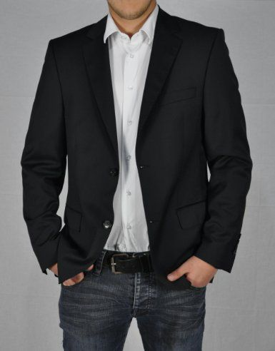 Men's Suit Jacket in black with jeans | Menswear | Pinterest ...