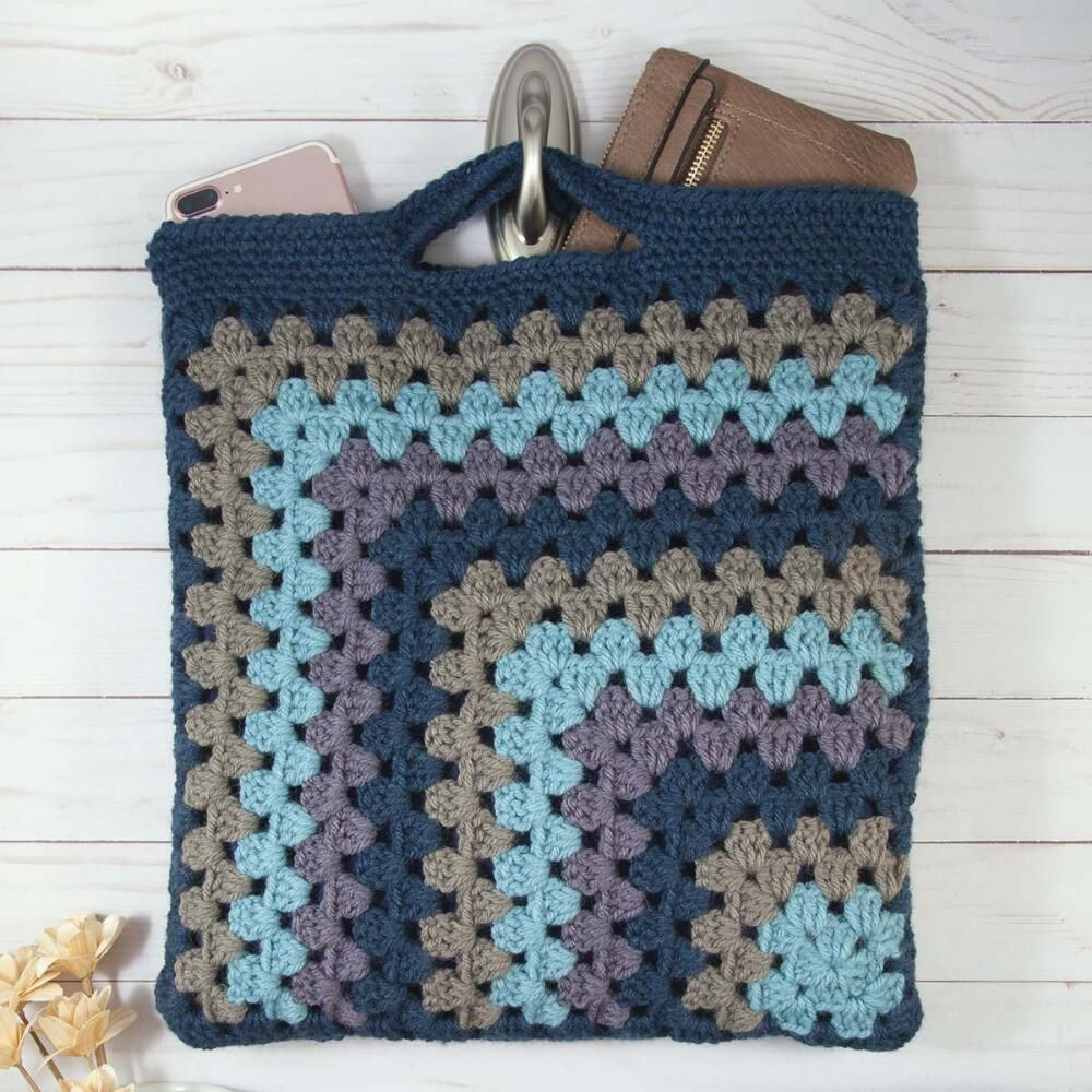 Crashing Waves Granny Tote Crochet Pattern Free Download Granny