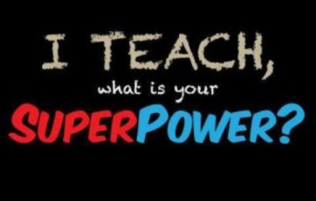I am a teacher, too!