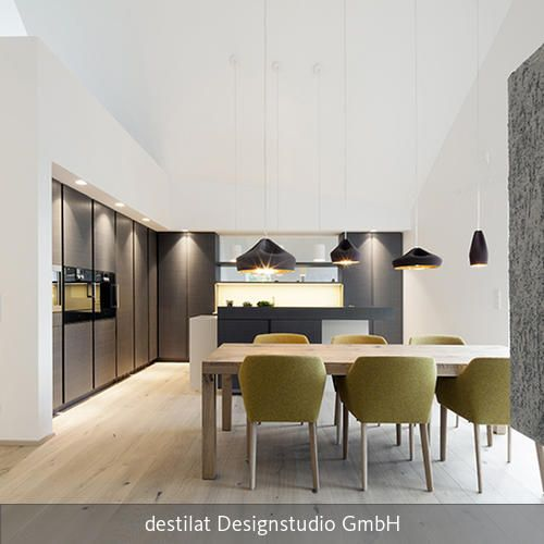 Penthouse B Penthouses, Modern and Room - wohnzimmer mit offener küche