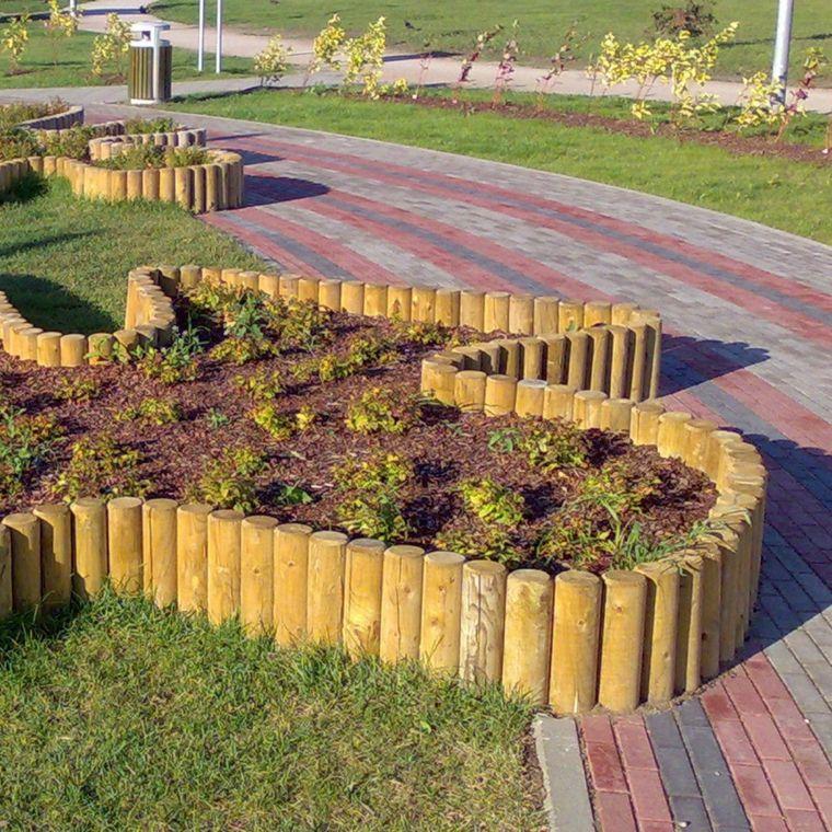 Bordes y separadores para parcelas de jardines 24 ideas - Jardines modernos ...