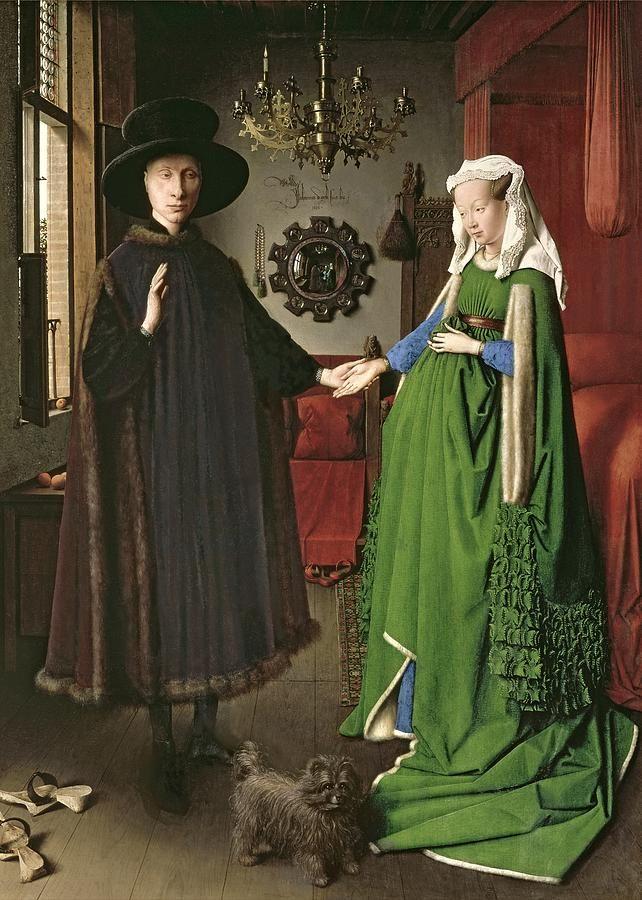 The Arnolfini Marriage Painting by Jan van Eyck