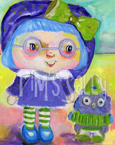art print mixed media strawberry shortcake friend  by timssally, $10.00