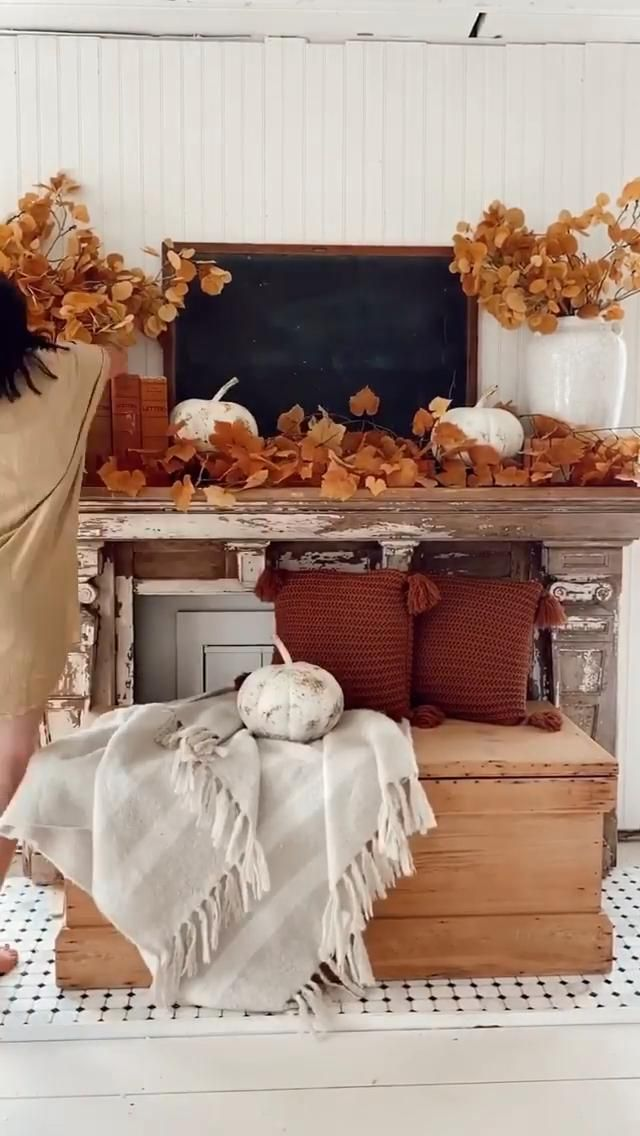 #FallHomeDecor #FallDecor #FallStyle #MantleDecor #FarmhouseStyle #CozyHome #CozyStyle #Autumn #Fall #November #Thanksgiving #NovemberVibes #FallInspo #MzManerz |Be Inspirational ❥|Mz. Manerz: Being well dressed is a beautiful form of confidence, happiness politeness